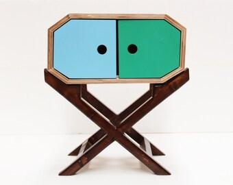 Retro Nightstand/ Bedside Table/ Marine Plywood/ Handmade/ Custom Made