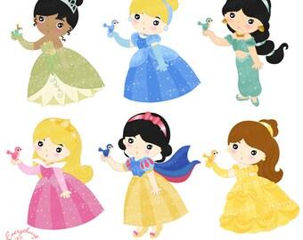 Princesses Clip Art Set