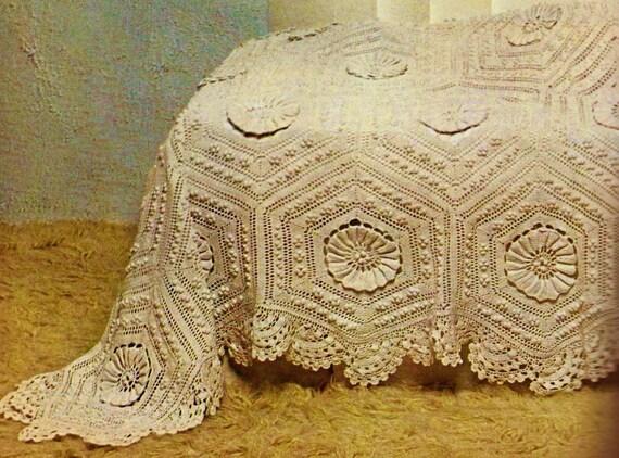 Victorian hexagons heirloom bedspread vintage crochet pattern victorian hexagons heirloom bedspread vintage crochet pattern download from momentsintwine on etsy studio dt1010fo
