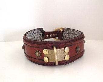 Leather dog collar hand made
