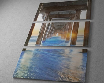 Sea Door 2 by Moises Levy Gallery Wrapped Canvas Triptych Print