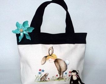 Kids Handbag, Carrier Bag or Toy Bag - Lulu & Bobbie Rabbit