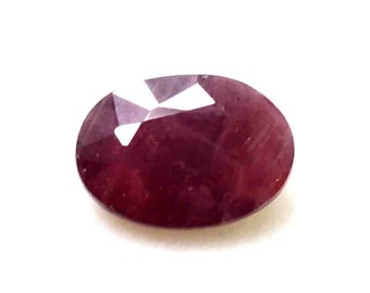 6.20 Ct Certified Natural Oval Shape African Red Ruby Gemstone Ring Size AO1791