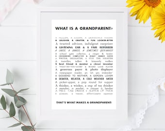 What is a Grandparent Print - New Grandparent Present