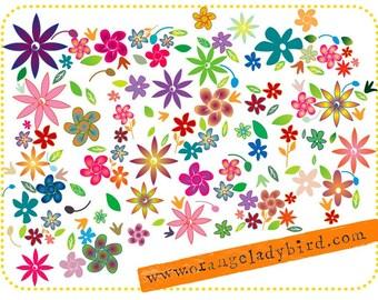 digital collage - FLOWERS