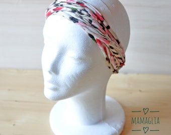 Turban headband vintage style, afro pink head wrap, ladies boho turban hairband, ecofriendly hairwrap, turbans women, rasta hair accessories