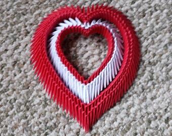 3d Origami heart