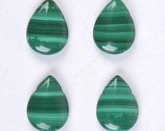 U2428 4pcs Genuine malachite teardrop pendant focal bead