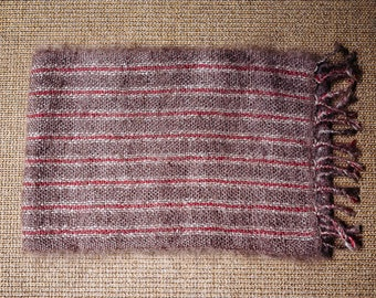 Raspberry scarf * hand woven silk and Mohair
