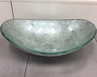 art glass vessel sink