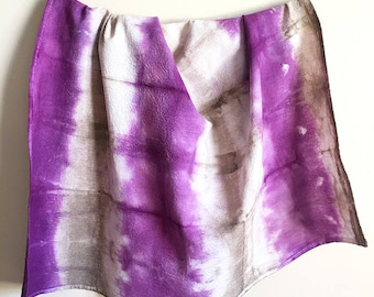 Flour Sack Dish Towel - Shibori Tea Towel - Kitchen Towel -Hand Dyed Fabric - Hand Towel - Housewarming Gift - Hostess Gift - Purple Towel