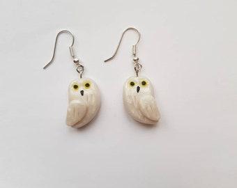 little owl earrings harry potter hedwig theme