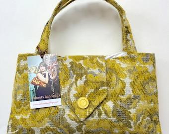Cahoots Handbags Vintage Yellow Floral Purse
