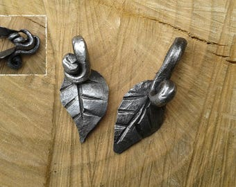 Hand Forged Leaf Pendant