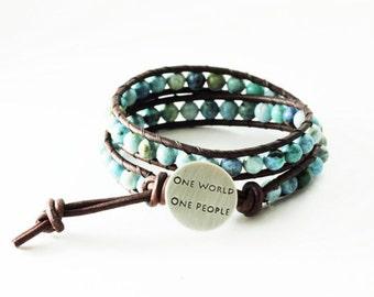 One World One People Boho Wrap Bracelet