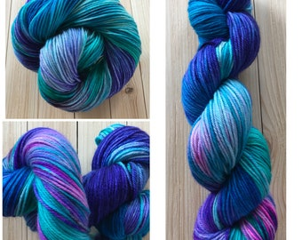 DK weight 115 grams 4 ply 250 yards Hand dyed yarn