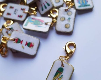 Sicilian Card Pendants 4pz