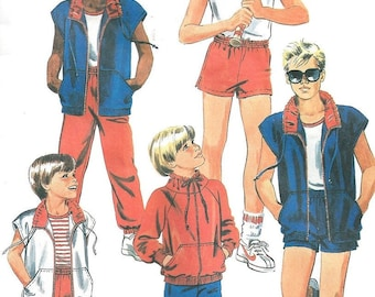 McCall's 9553 Pattern Boy's Jacket, Vest, Top and Pants or Shorts 1980's Vintage Pattern Size 18 and 20