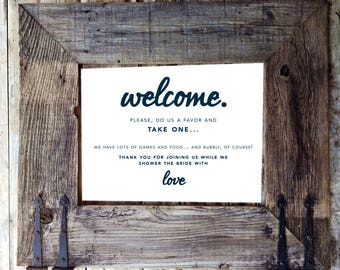 Welcome Sign / Bridal Shower / Sign / Party Favors / Bridal Shower Gift / Gifts / Gift / Wedding Welcome Sign / Printable / Instant Download