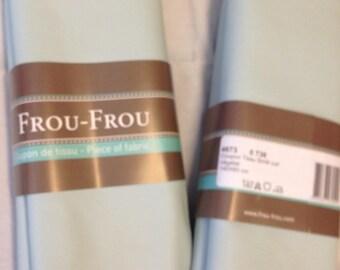 Coupon de tissu Simili Cuir Couleur Bleu vert végétal
