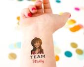 Photo Tattoo, Bachelorette Tattoos, Bride Tattoo, Bachelorette Party Favor, Face Tattoo, Head Tattoo, Team Tattoo, Team Bride, Custom Tattoo