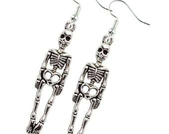 TFB - SKELETON BONES Dangle Earrings - Complete with gift box