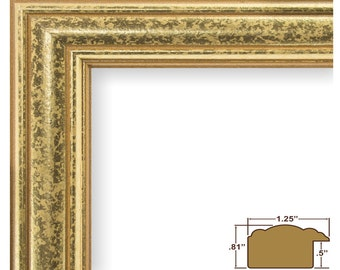"""Craig Frames, 24x36 Inch Vintage Gold Picture Frame, Goldstone 1.25"""" Wide (599450002436)"""