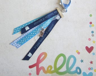 Key holder or jewelry bag to Swaddle or baby themed handbag