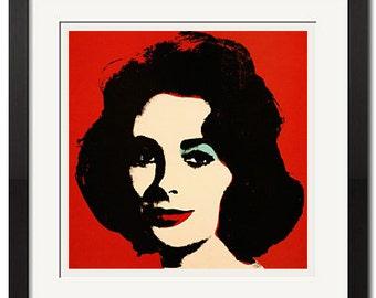 Liz x Andy Warhol Pop Art Elizabeth Taylor Portrait Poster Print