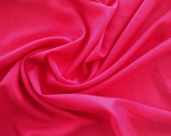 Cotton Linen Blend, 3 Yards, Hot Pink