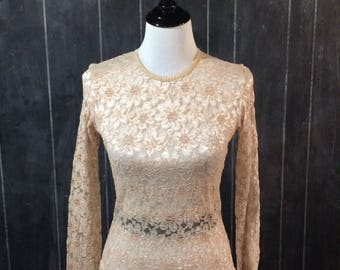Vintage cream lace top