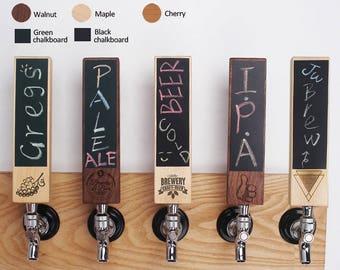 10 Chalkboard Beer Tap Handles, Beer tap handle, Engraved chalkboard Tap Handle, kegerator
