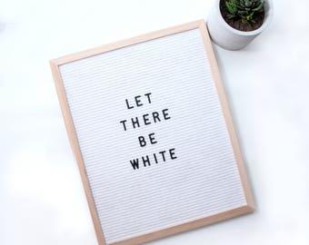 White Oak Frame Quote board typography letterboard 39.5cm x 49.5cm