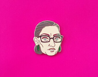 Enamel Pin - Ruth Bader Ginsburg - Boss Babes Collection