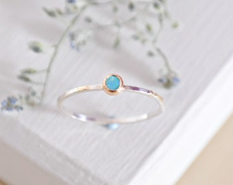 Opal Ring, Sterling Silver Ring, Stacking Ring, Gold Opal Ring, Gemstone Ring, Minimalist Ring, Silver Ring, 9ct Gold, Birthstone Ring, Opal