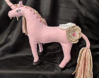 Felt Unicorn Horse Pdf Pattern with Instructions