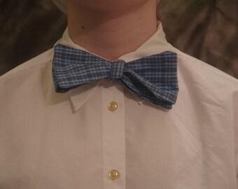 Blue Self Tie Bow Tie