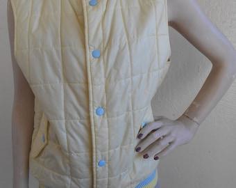 Vintage Vest Brittania Puffy Nylon  Size Medium Jacket Coat
