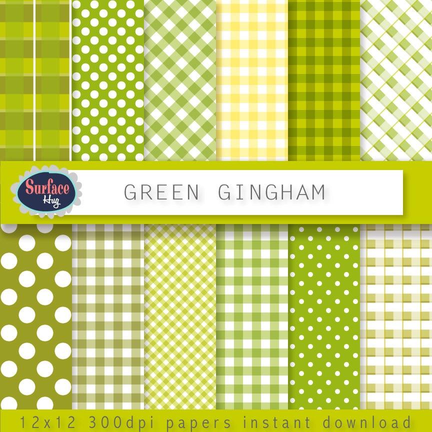 Vichy numérique papier vert Vichy carreaux papier nappe