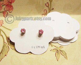 45•Cloud 9 •2 x 1.75 inch•EARRING CARDS•Jewelry Cards•Earring Display•Earring Holder•Stud card•Post Earring Card