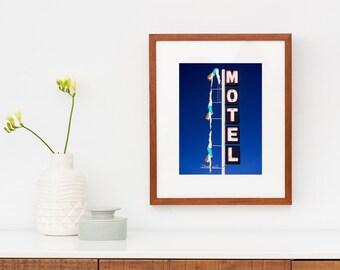 Starlite Motel Diving Girl Sign Print | Mid Century Modern Wall Art | Motel Sign | Mid Century Wall Art | Mesa Arizona Art | Neon Sign Art