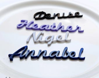 Table place names - for weddings and all special occasions