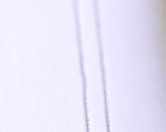Hand Stamped Initial Necklace on Silver Chain