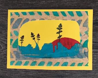 Handmade nature greeting cards