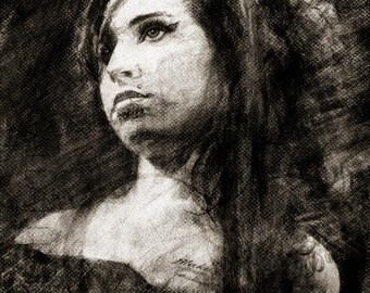 Amy Winehouse - Limited Edition Giclee Print 16 x 20