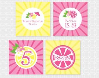 Lemonade Party Circles - Personalized Printable
