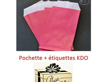 adhesive labels + covers kdo fuchsia and gold set of 5