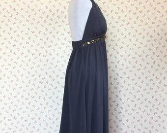 Blue vintage party dress, original made in Italy', summer dress, vintage dress, blue dress