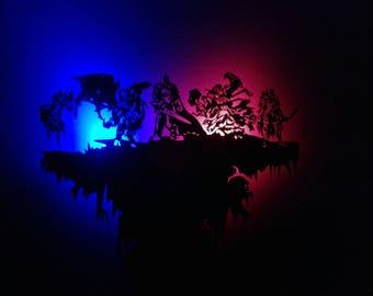 World of Warcraft wooden wallclock with illumination