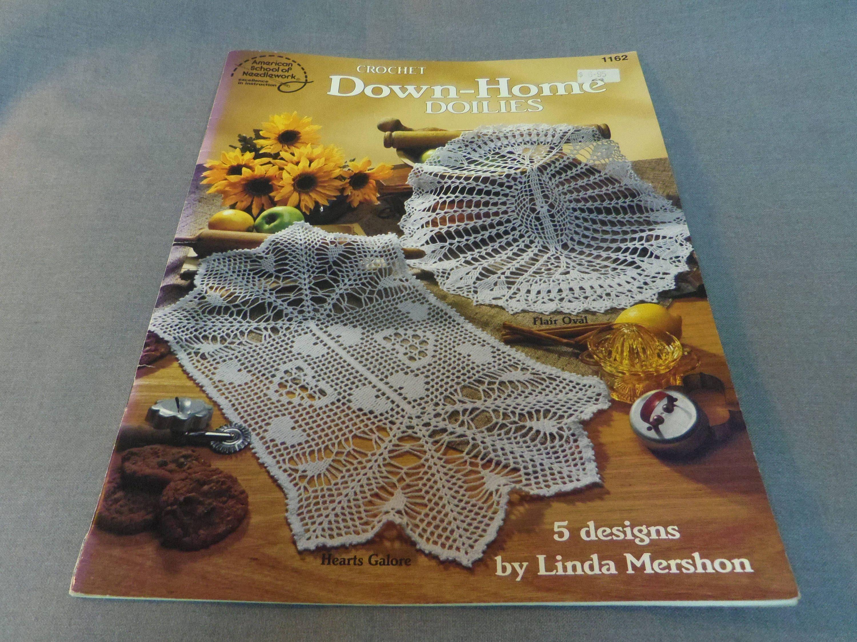 Häkeln Sie Muster unten Hause Deckchen 5 Designs Linda